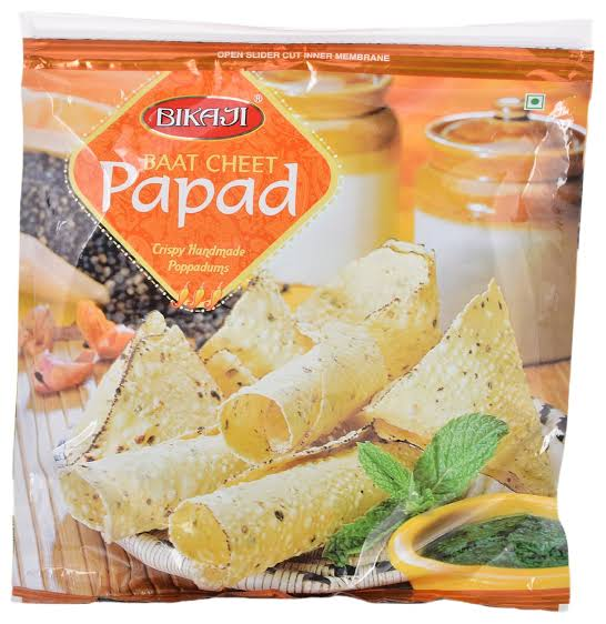 Bikaji Baat Cheet Papad 400gm MRP Rs.115/-(12PCS)
