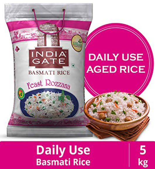 India Gate Basmati Rice Feast Rozzana 5kg MRP 440/-