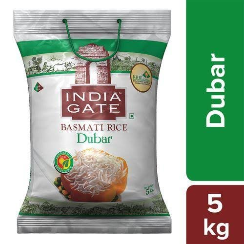 India Gate Basmati Rice Dubar 5kg MRP 585/-