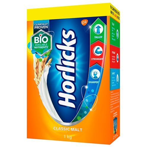 Horlicks Health & Nutrition Drink - Classic Malt, 1 kg Carton
