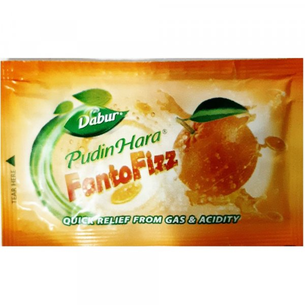Dabur Pudin Hara Fanto Fizz 20N * 5G AND 1 Hajmola Regular 50tablets Bottle Worth 20/- MRP 140/-