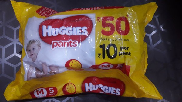 Huggies Pants Overnight Absorption M size 7-12 kg 5 pants MRP -50/-