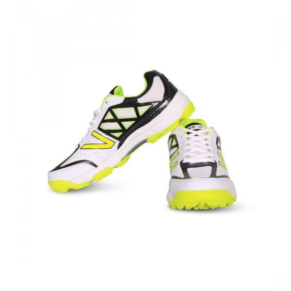 Vector X Atomic Cricket Shoes (White-Black-Green) MRP 1550/-