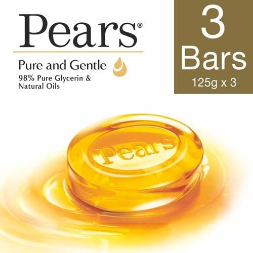Pears Soap Bar - Pure & Gentle, 125 gm Pack of 3
