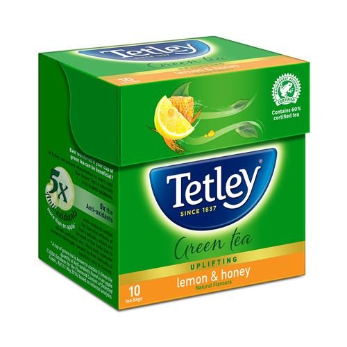 Tetley Green Tea - Lemon & Honey, 10 Teabags