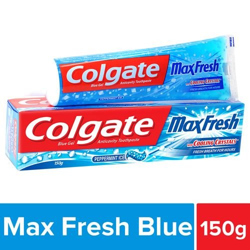 Colgate Toothpaste - Maxfresh Blue Peppermint Ice, Gel, 150 gm
