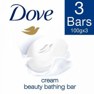 Dove Bathing Bar Soap - Cream Beauty, 100 gm Pack of 3 MRP 172/-