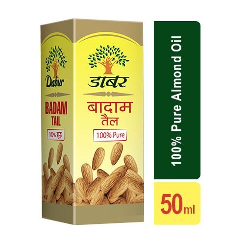 Dabur Badam Tail - 100% Pure Almond Oil, 50 ml