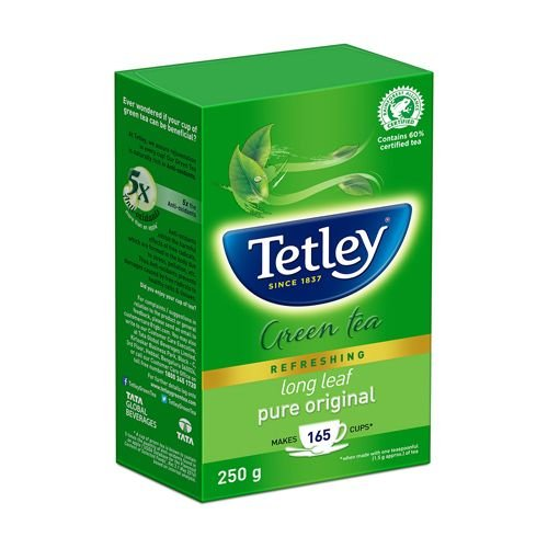 Tetley Green Tea - Long Leaf, 250 gm Packet