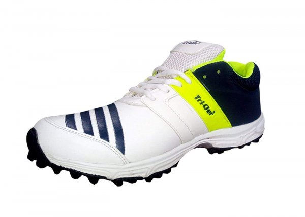 COCUS Unisex TRIQER Cricket Shoes White Parrot Colour Best for Badminton Shoes, Running Shoes, Jogging Shoes MRP 1499/-