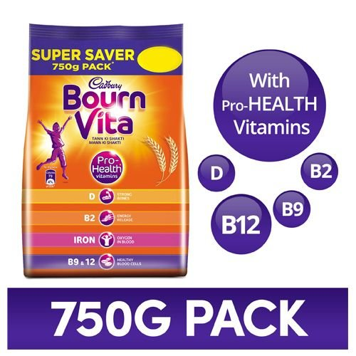 Cadbury Bournvita - Chocolate Health Drink, 750 gm Pouch