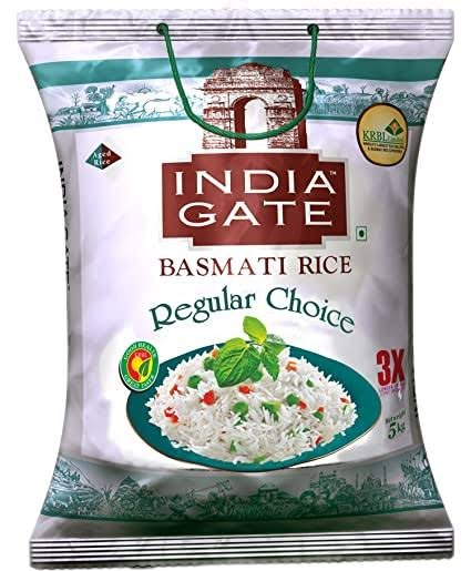 India Gate Basmati Rice Regular Choice 5kg MRP 410/-