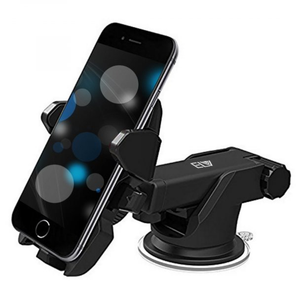ELV Car Mount Adjustable Car Phone Holder Universal Long Arm, Windshield for Smartphones - Black MRP 999/-