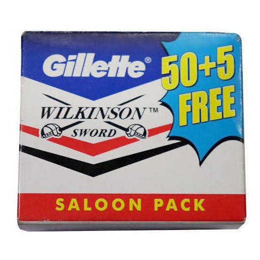Gillette Wilkinson Sword 50+5 Free MRP 123/-