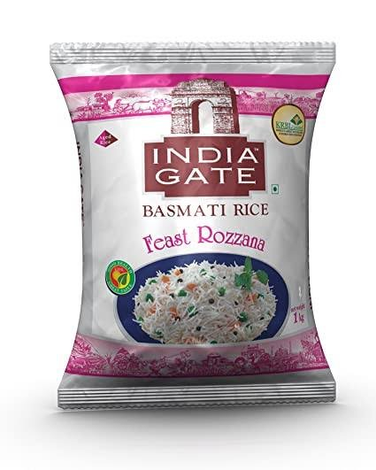 India Gate Basmati Rice Feast Rozzana 1kg MRP 89/-
