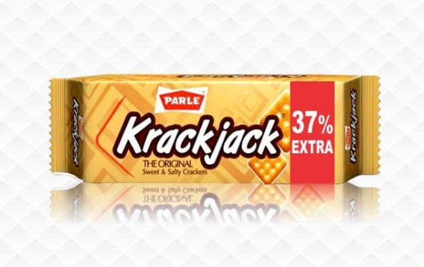 Parle Krackjack The ORIGNAL SWEET & Salty Crackers MRP 5/-(12PCS)