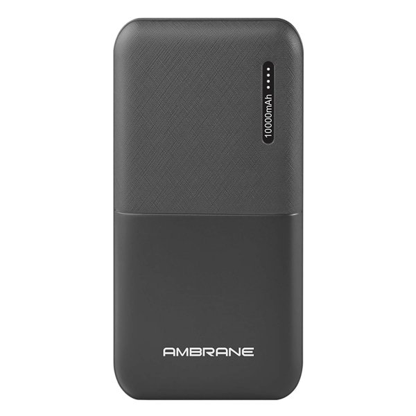 Ambrane 10000mAh Li-Polymer Powerbank with Compact Size & Fast Charging for Smartphones, Smart Watches, Neckbands & Other Devices (Capsule 10K, Black) MRP 1499/-
