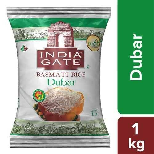 India Gate Basmati Rice Dubar 1kg MRP 115/-