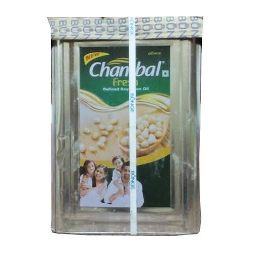 Chambal Fresh Refined Soyabeen oil 15kg (5 tin)