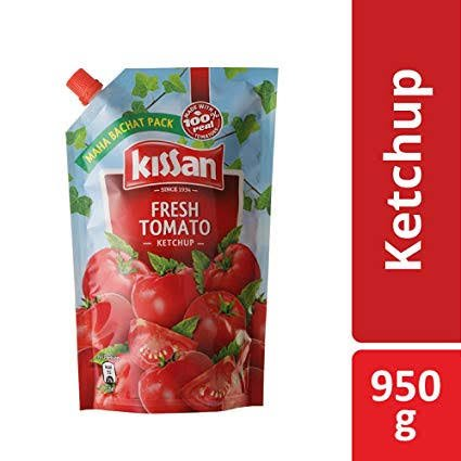 Kissan Fresh Tomato Ketchup 950gm MRP 125/-