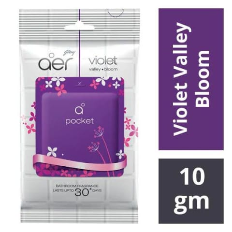 GODREJ AER POCKET VIOLET VALLEY-BLOOM 10G MRP 55/-