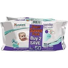 Himalaya gentle baby wipes 72wipes Super Saver Pack MRP- 318 /-