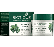 Biotique Bio Winter Green Spot Correcting Anti-Acne Cream 15 g MRP-199/-