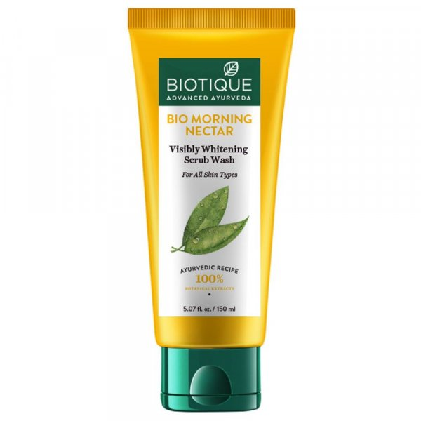 Biotique Bio Morning Nectar Whitening Scrub Wash 150ml MRP-150/-