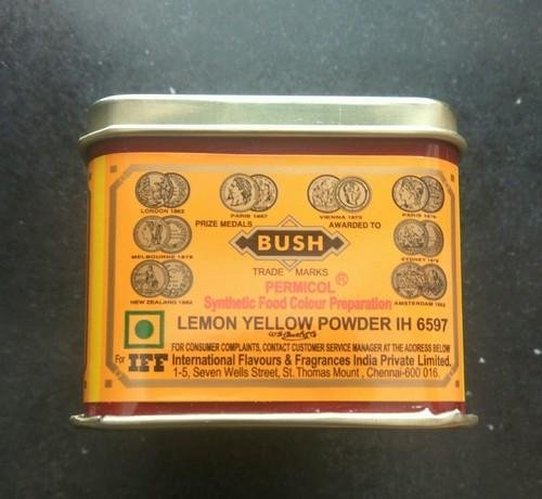 Bush Food Colour Prepration Lemon Yellow Powder  100g MRP-58/-
