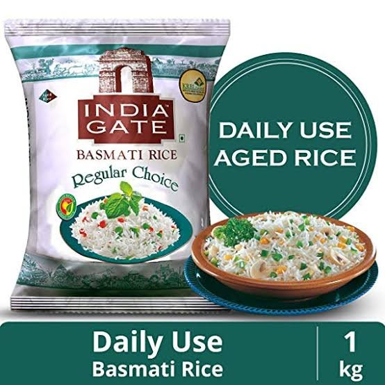 India Gate Basmati Rice Regular Choice 1Kg MRP 77/-