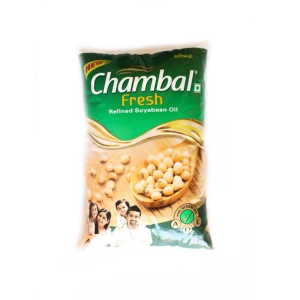 Chamble Fresh Refined Soyabean Oil(1ltr*16=16 POUCH)