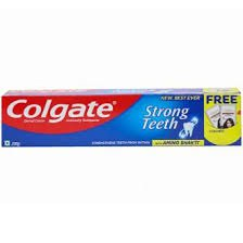 Colgate Strong Teeth Toothpaste 200gm FREE LOREAL PARIS SHAMPOO 2 SACHETS WORTH 10/-  MRP 95/-