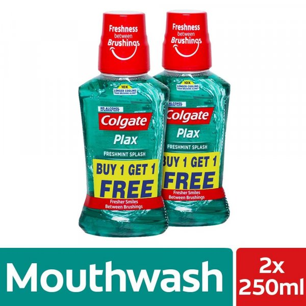 Colgate Plax  Freshmint Splash Buy 1 Get 1 FREE 250ml MRP-120/-