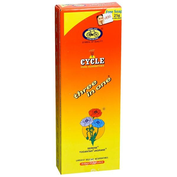 Cycle Pure Agarbathies 3 in 1 234g  MRP-100/-+1 Soap 25g FREE