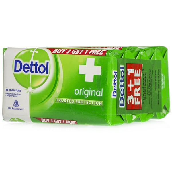 Dettol Original BUY 3 GET 1 FREE 75G EACH MRP 99/-