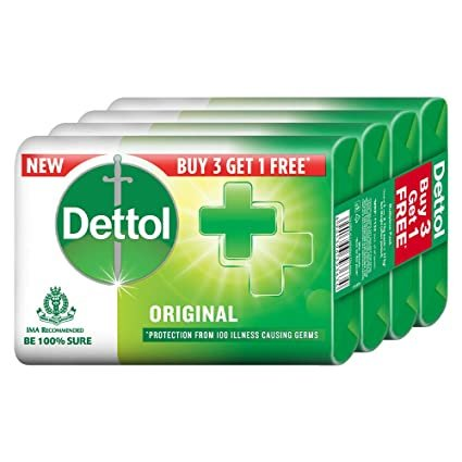 Dettol original Soap (300 gm,Pack of 3+1 ) MRP 96/-
