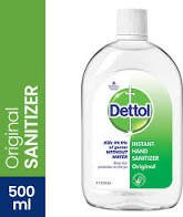 Dettol Instant Hand Sanitizer Original 500 ml MRP-250/-