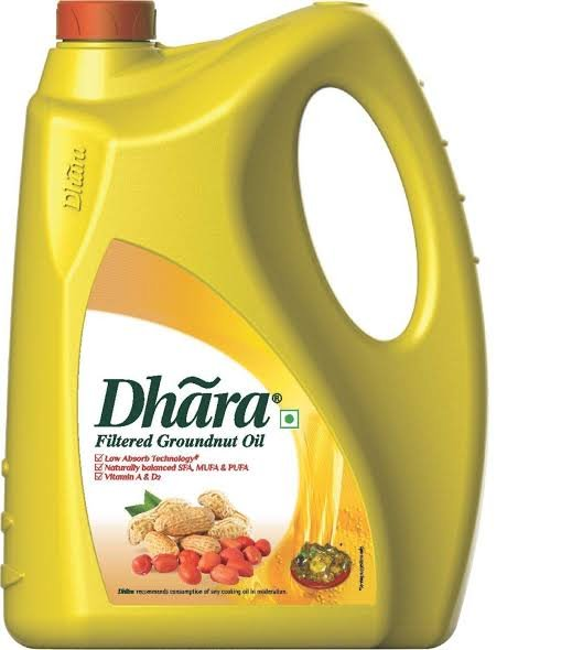 Dhara Groundnut oil  5ltr MRP 1000/-