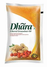 Dhara Filtered Groundnut Oil 1 ltr  (12 Pouches)