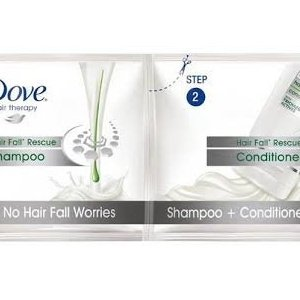 Dove Hair Fall Rescue shampoo + conditioner  MRP 5/-