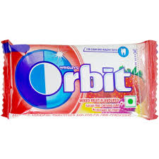 ORBIT MIXED FRUITS FLAVOUR 4.4GM MRP 5/-