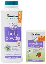 HIMALAYA BABY POWDER 200GM MRP 120/- FREE BABY SOAP 75GM