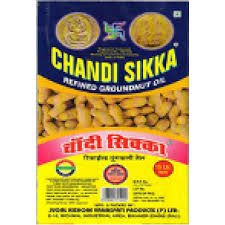Chandi Sikka Refined Groundnut oil Tin (15ltr)