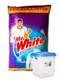 Mr.WHITE 5KG MRP 485/-(WITH CONTAINER)