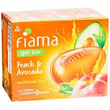 FIAMA GEL BAR PEACH & AVOCADO 100GM MRP 35/-