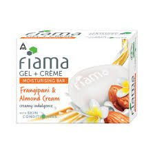 FIAMA GEL BAR FRANGIPANI & ALMOND CREAM 100GM MRP 35/-