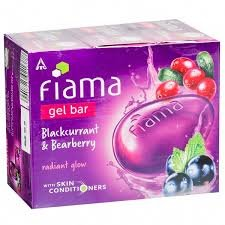 FIAMA GEL BAR BLACKCURRANT & BEARBERRY 100GM MRP 35/-