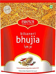 BIKAJI BHUJIA 40GMS STRIP OF 12 MRP 10/-