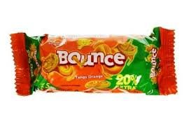 SUNFEAST BOUNCE TANGY ORANGE MRP 5/- (144PCS)
