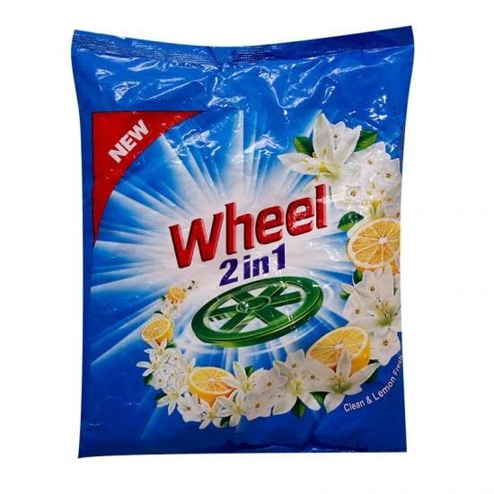 Active Wheel 2 in 1 Detergent Powder 500gm MRP 24/-(30PCS)